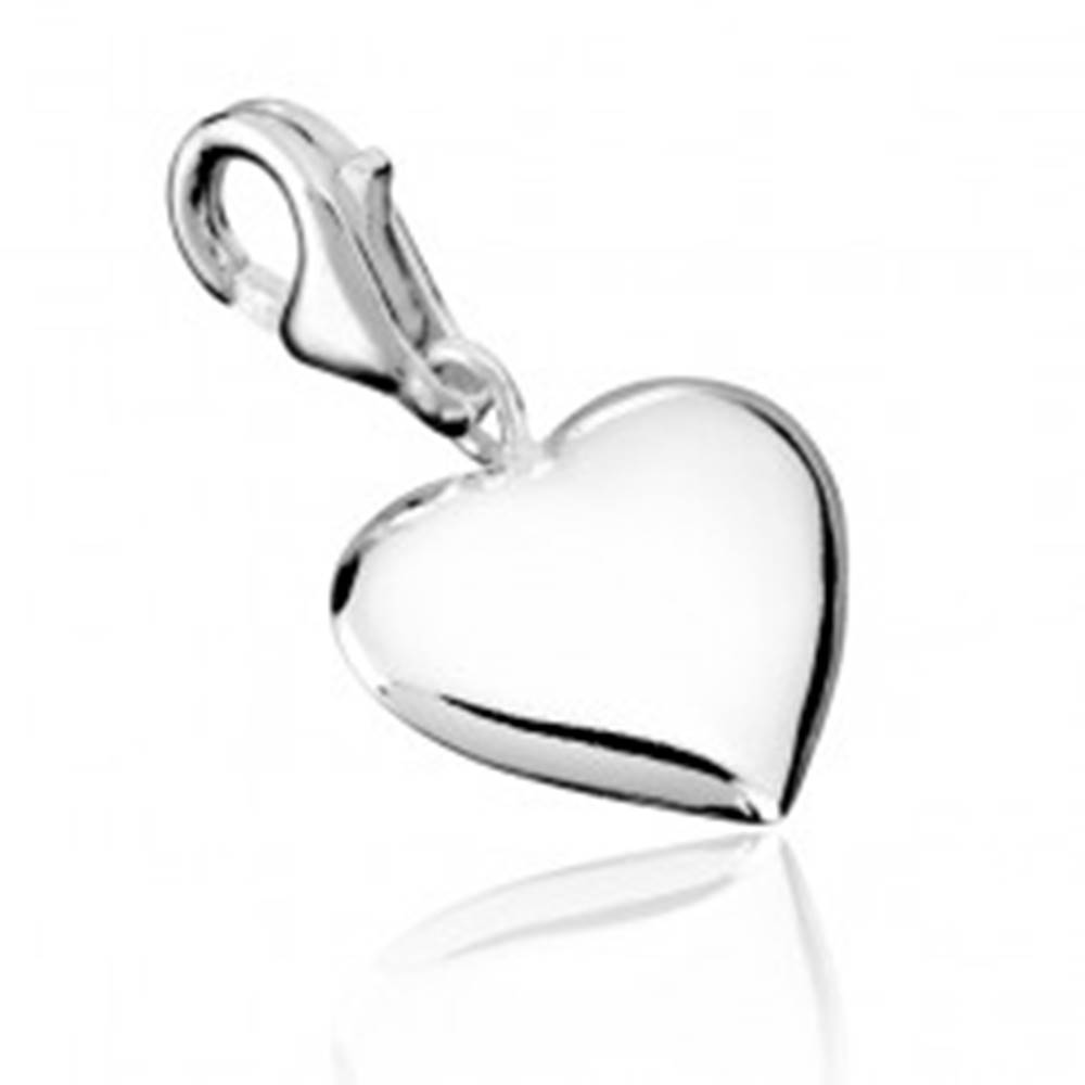 Šperky eshop Strieborný prívesok 925 - pravidelné srdce