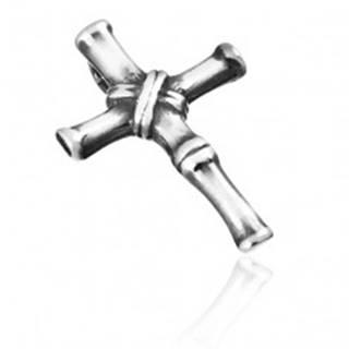 Prívesok zo striebra 925 - článkovaný starožitný krížik s patinou