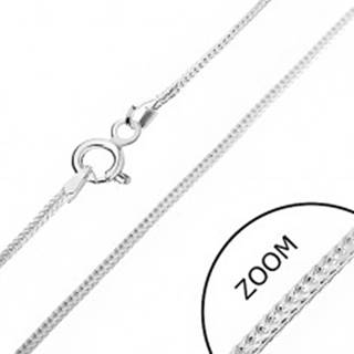 Strieborná retiazka 925 - hranatá línia očiek, 1 mm