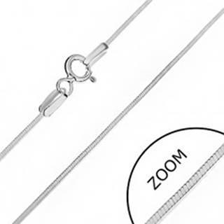 Strieborná retiazka 925 - lesklá hranatá línia, 0,8 mm