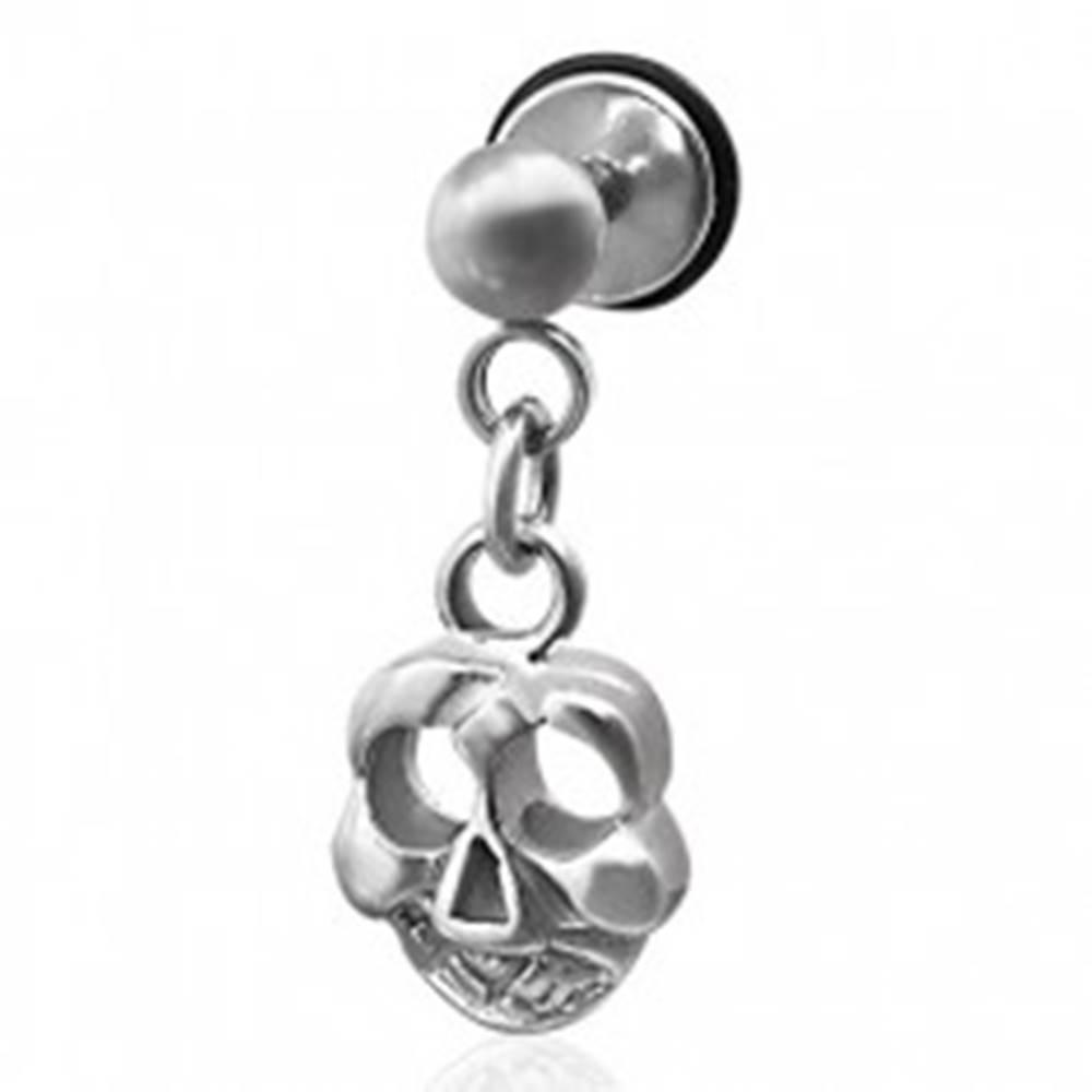 Šperky eshop Falošný piercing visiaca lebka