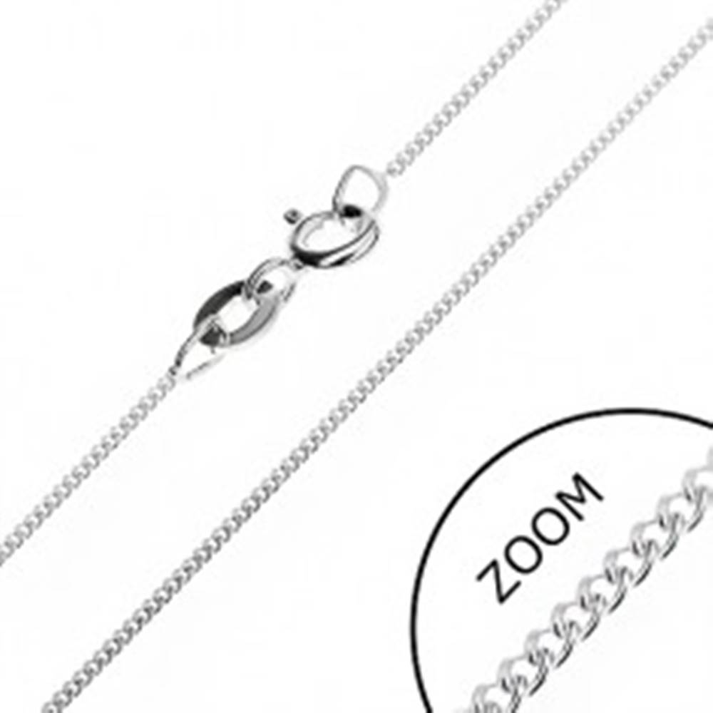 Šperky eshop Jemná retiazka zo striebra 925 - husté očká, 0,8 mm