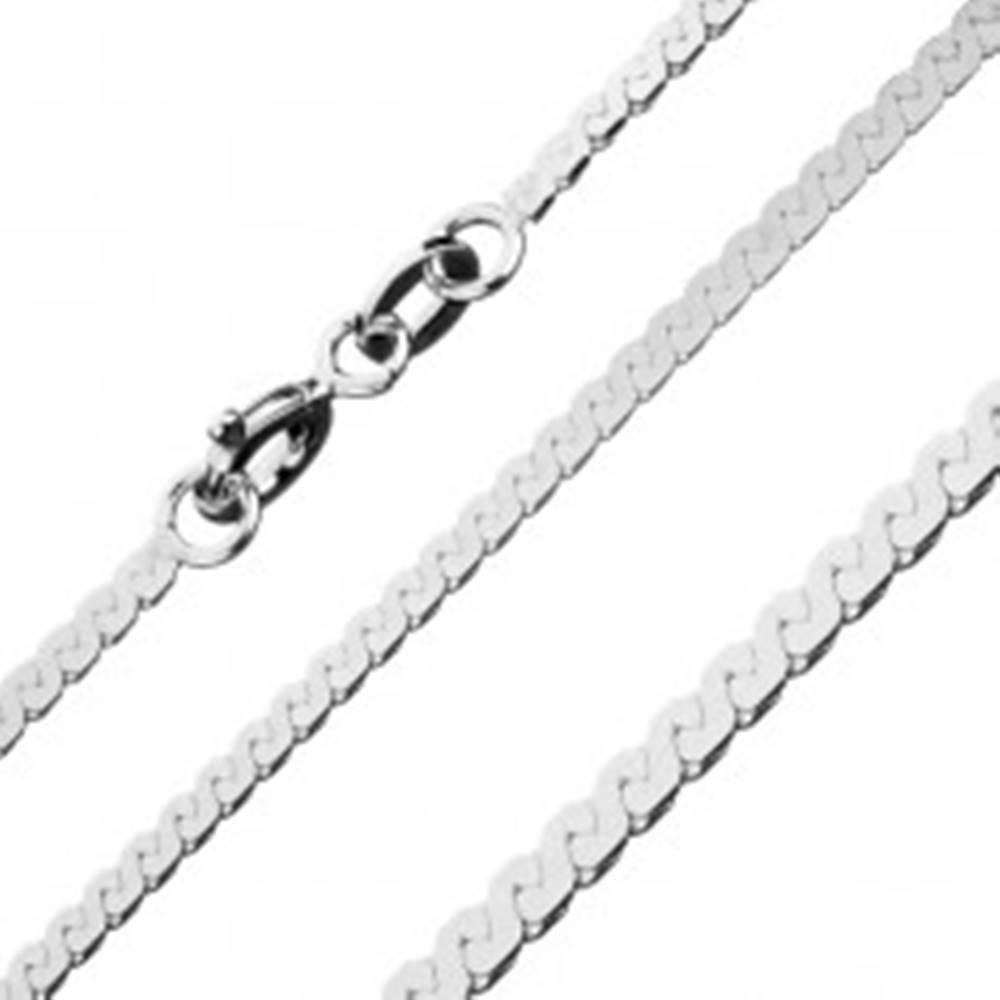 Šperky eshop Lesklá retiazka zo striebra 925 - esovitá línia, 1,8 mm