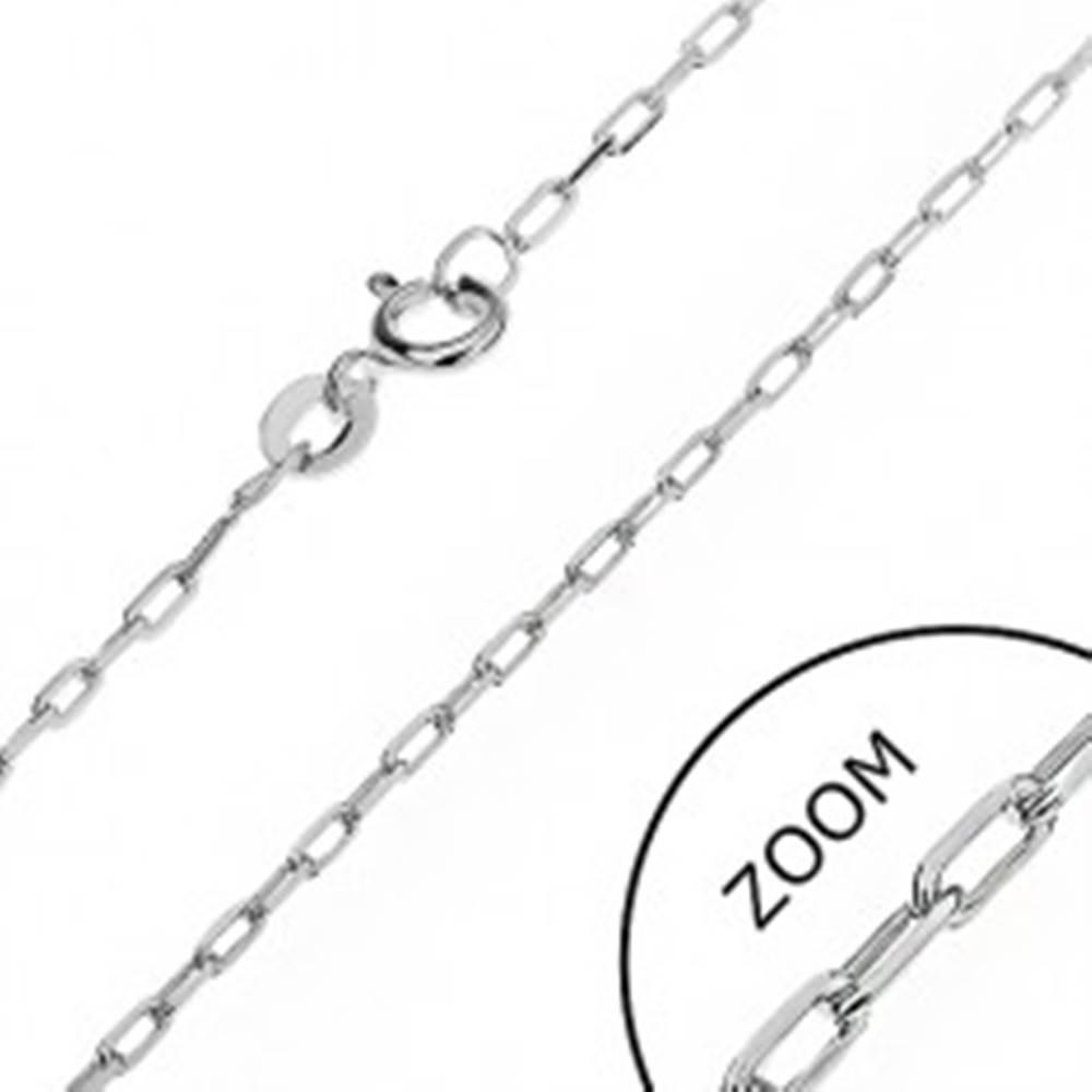 Šperky eshop Lesklá retiazka zo striebra 925 - hladké obdĺžniky, 1,6 mm