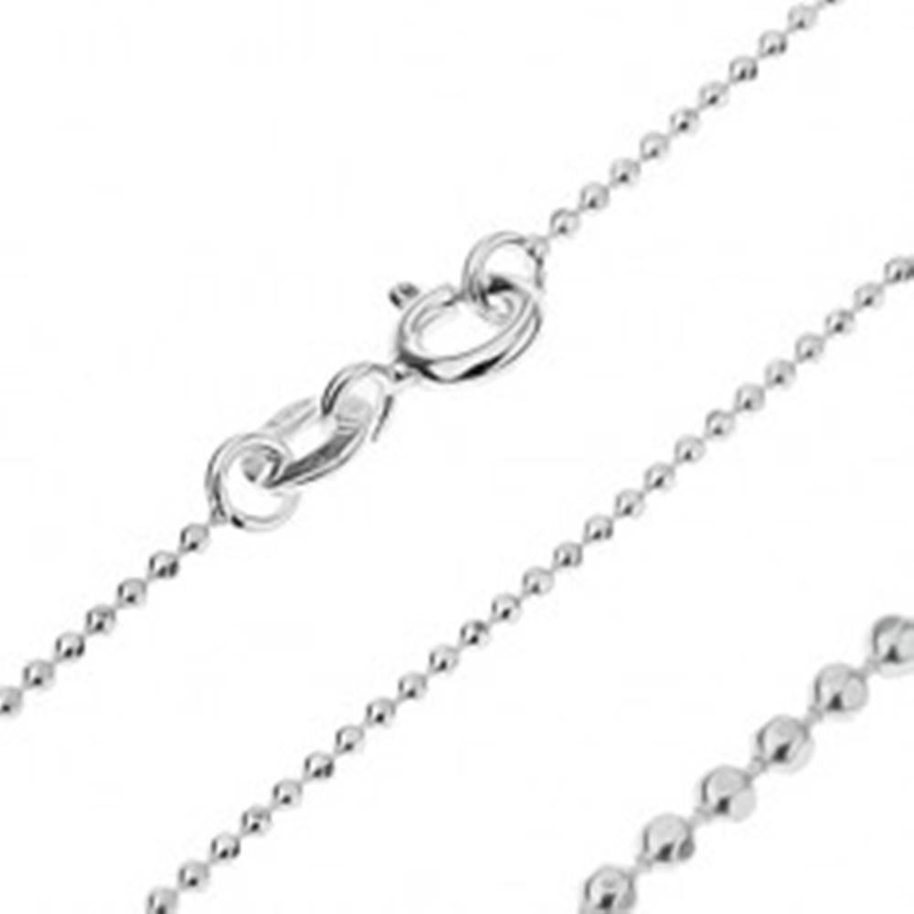 Šperky eshop Retiazka zo striebra 925 - malé trblietavé armádne guličky, 1 mm