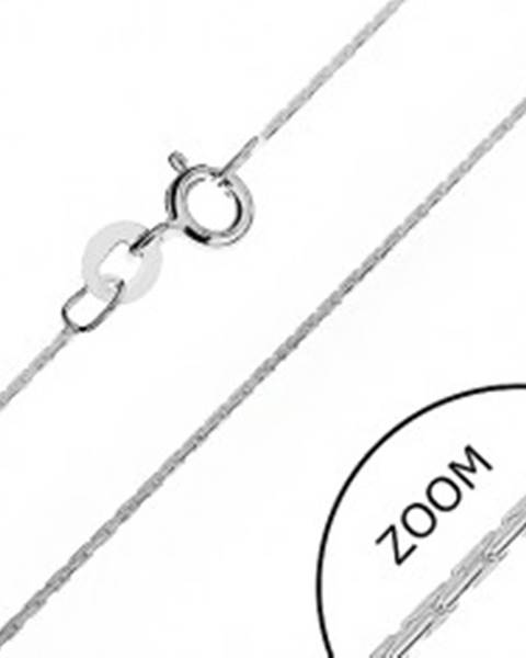 Šperky eshop Strieborná retiazka 925 - zaoblená, lesklé paličkové články, 0,6 mm