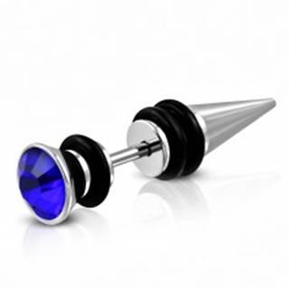 Fake expander z ocele 316L s veľkým zirkónom a gumičkami - Farba: Číra - Priesvitná