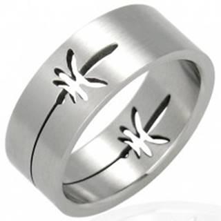 Oceľový prsteň lístky marihuana - Veľkosť: 53 mm