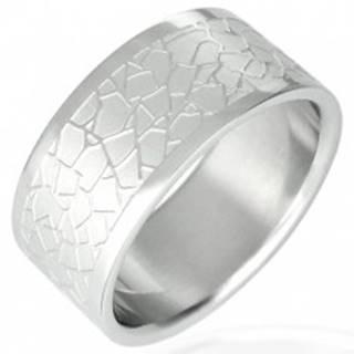 Oceľový prsteň - nepravidelný dlaždicový vzor - Veľkosť: 51 mm