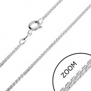 Strieborná retiazka 925 - línia zaoblených esíčok, 1,3 mm
