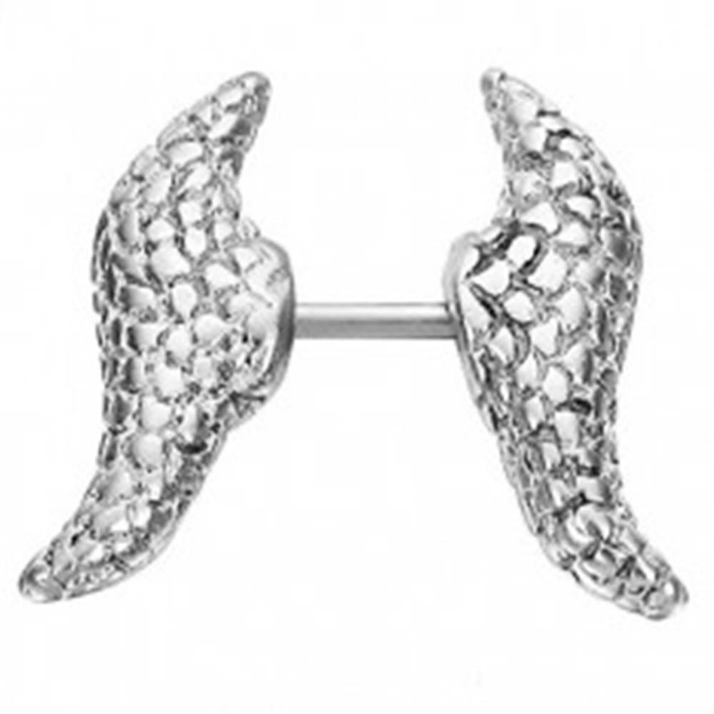 Šperky eshop Fake expander ryhované krídla