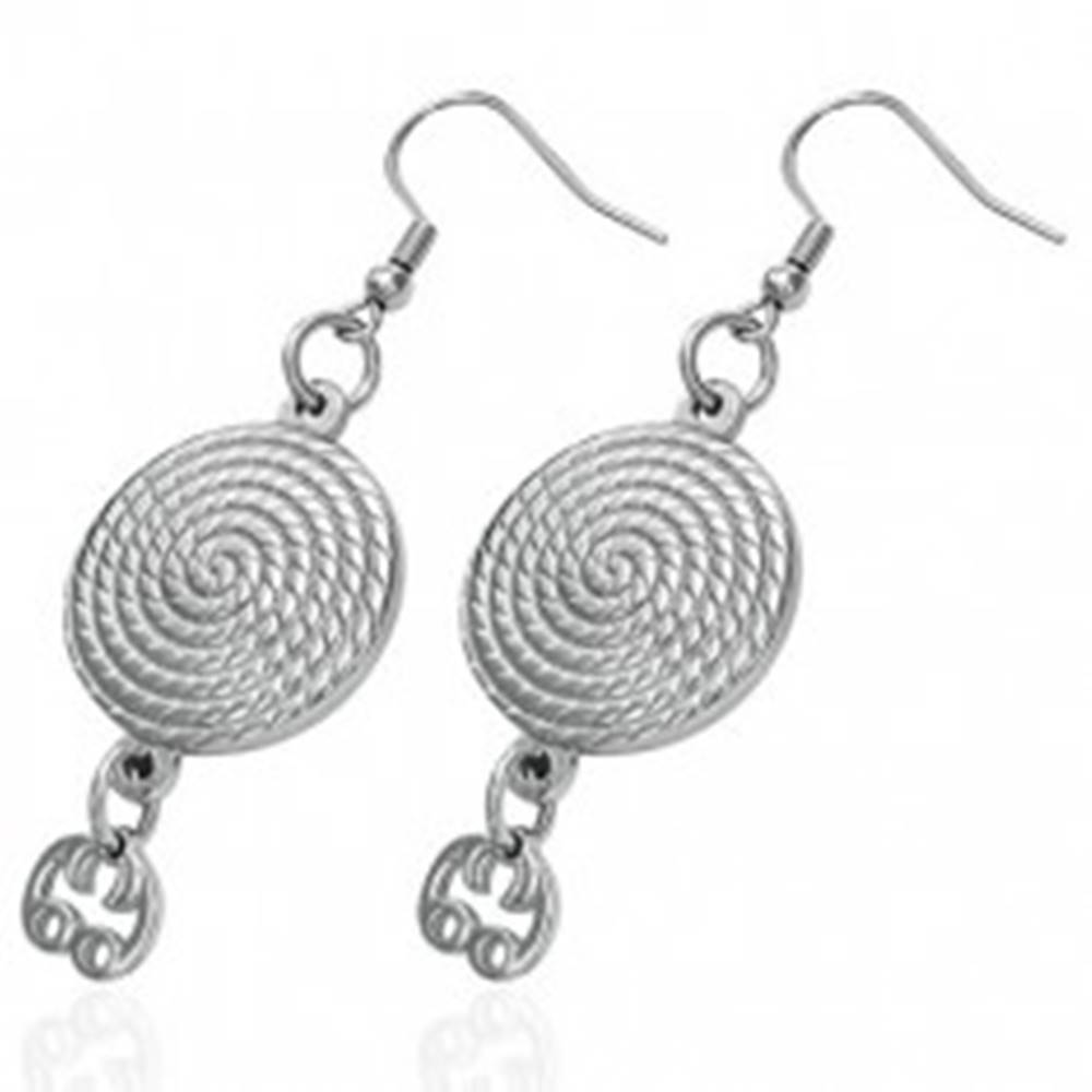 Šperky eshop Oceľové náušnice okrúhle - špirála, strieborná farba, afroháčiky