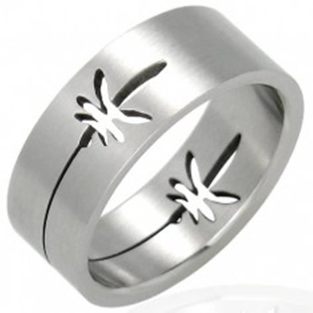 Šperky eshop Oceľový prsteň lístky marihuana - Veľkosť: 53 mm