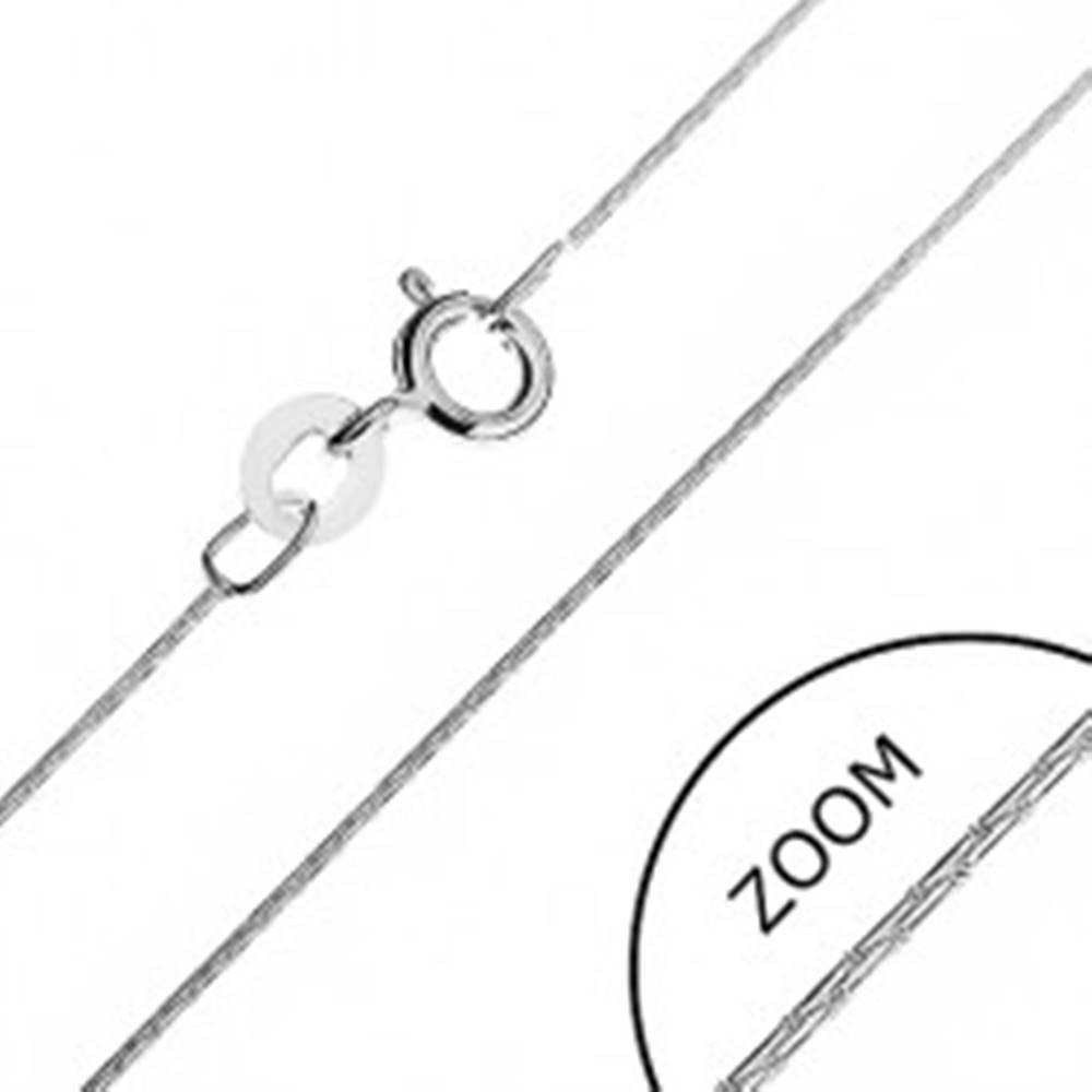 Šperky eshop Retiazka zo striebra 925 - paličkové články, 0,5 mm