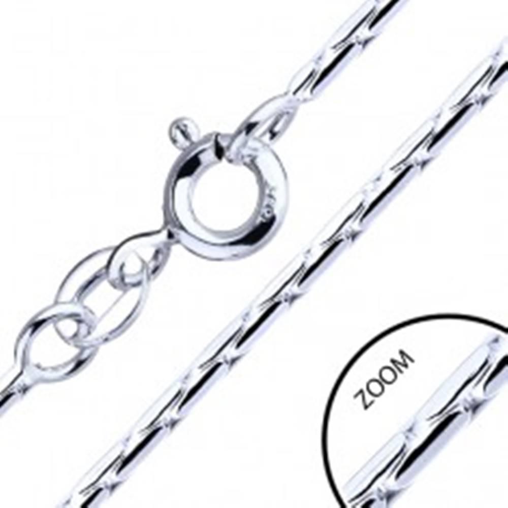 Šperky eshop Retiazka zo striebra 925 - paličkové články, 1,3 mm