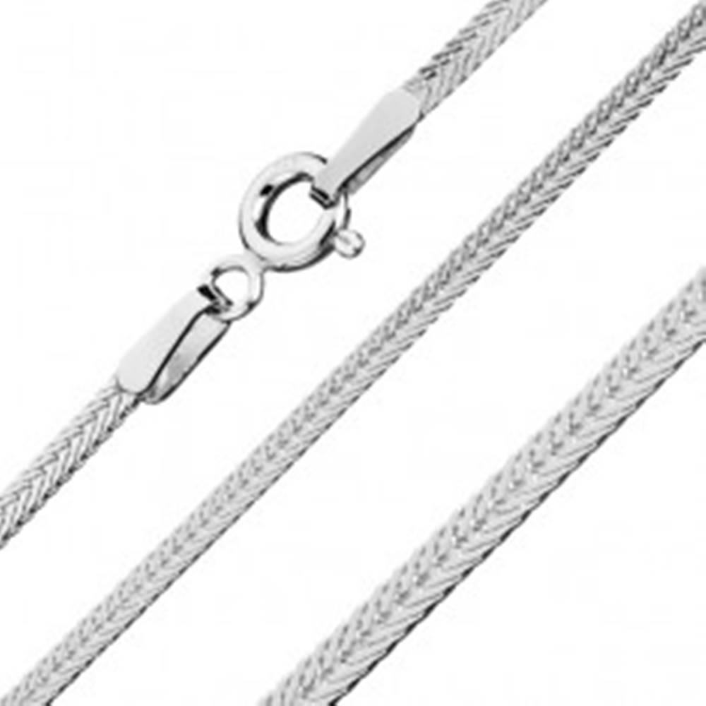 Šperky eshop Sploštená retiazka zo striebra 925 - šikmo uložené očká, 1,8 mm