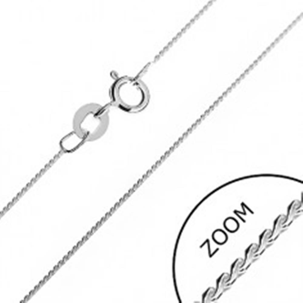 Šperky eshop Strieborná retiazka 925 - jemná línia hadíka zo zaoblených esíčok, 0,6 mm