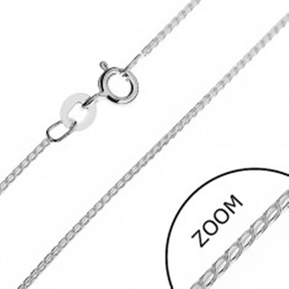 Šperky eshop Strieborná retiazka 925 - lesklý hadík z esíčok, 1,1 mm