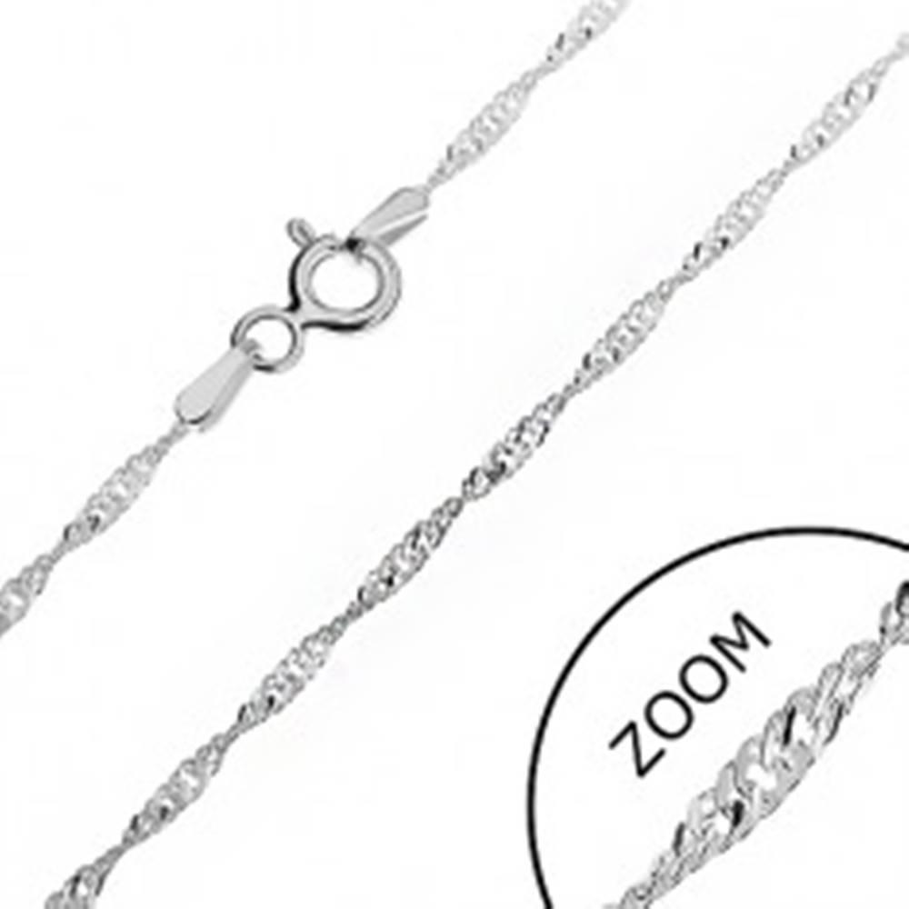 Šperky eshop Strieborná retiazka 925 - trblietavá špirála z plochých očiek, 1,3 mm