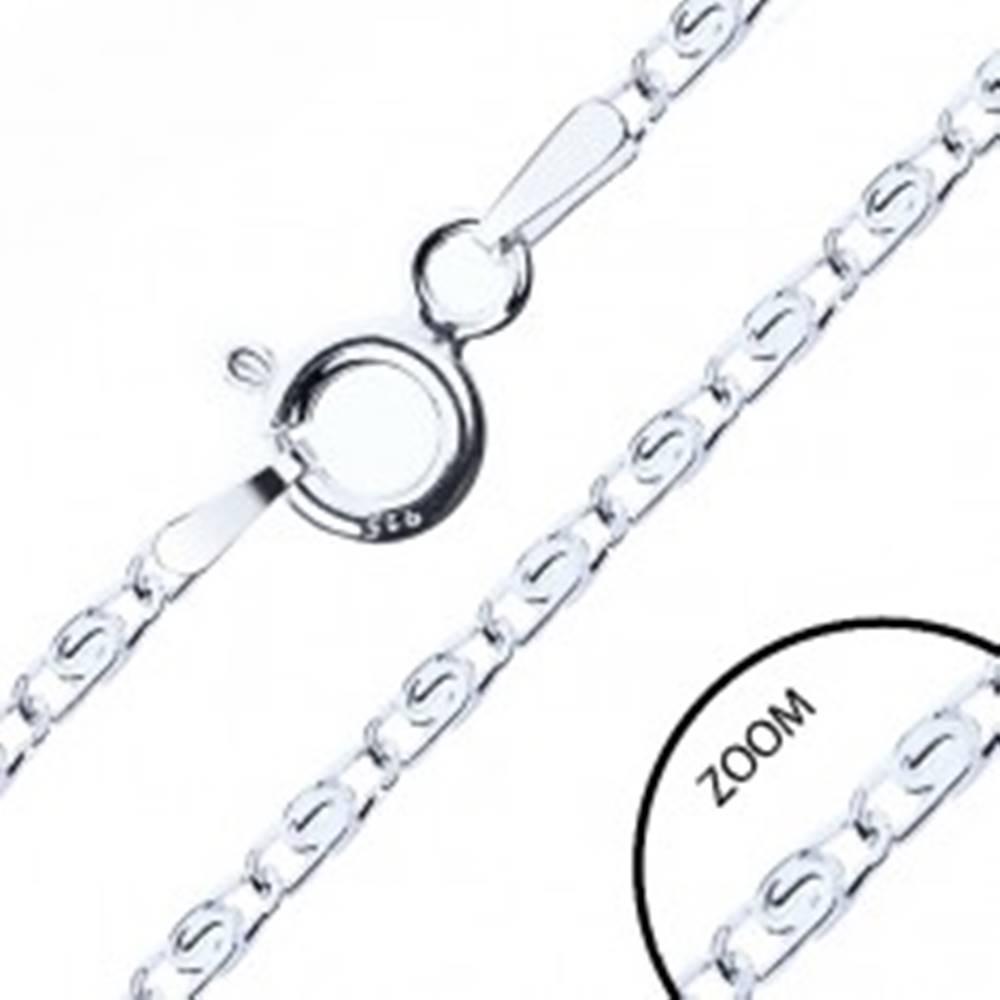 Šperky eshop Strieborná retiazka - striebro 925, prekladané očká s esíčkom, 2,1 mm