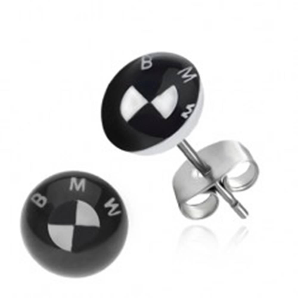 Šperky eshop Oceľové náušnice logo automobilovej značky