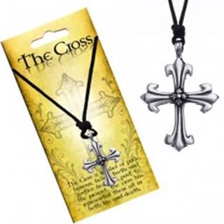 Náhrdelník s príveskom v tvare kríža, ľaliové ramená
