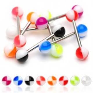Piercing do jazyka farebné štvrťky - Farba piercing: Červená