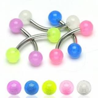 Piercing do obočia - priesvitné malé guličky 3 mm - Farba piercing: Biela