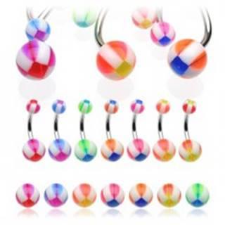 Piercing do pupku basketbalová lopta - Farba piercing: Červená