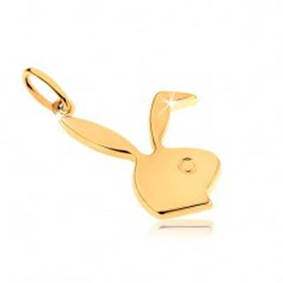 Prívesok zo žltého 9K zlata, lesklá hlava zajačika