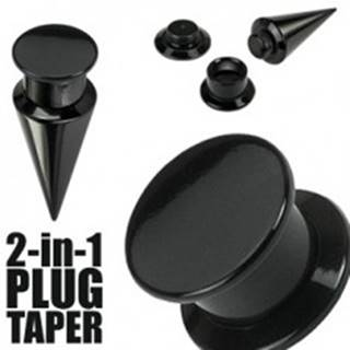 Taper a plug 2 v 1 čierny - Hrúbka: 10 mm