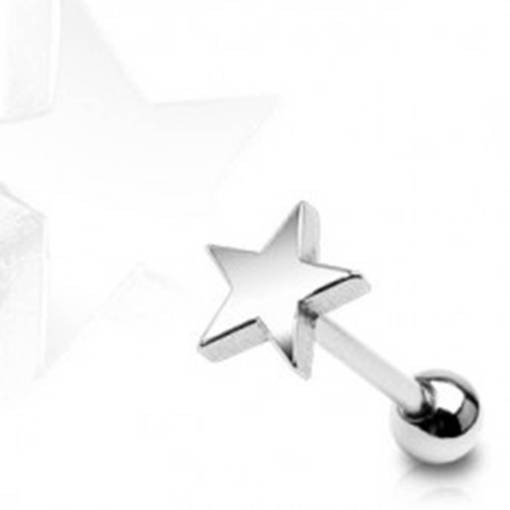 Šperky eshop Piercing do jazyka Vojenská hviezda