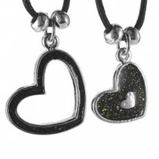 Dvojitý náhrdelník - srdiečka na šnúrkach