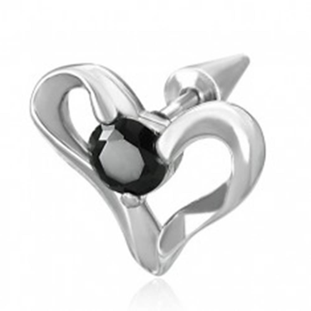 Šperky eshop Fake expander s oceľovým srdcom