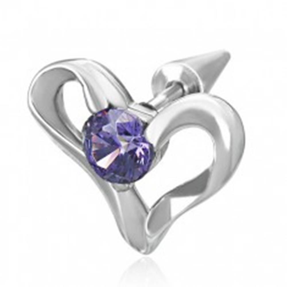 Šperky eshop Fake oceľový expander so srdcom