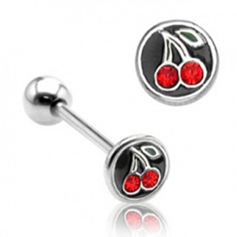 Šperky eshop Piercing do jazyka čerešničky