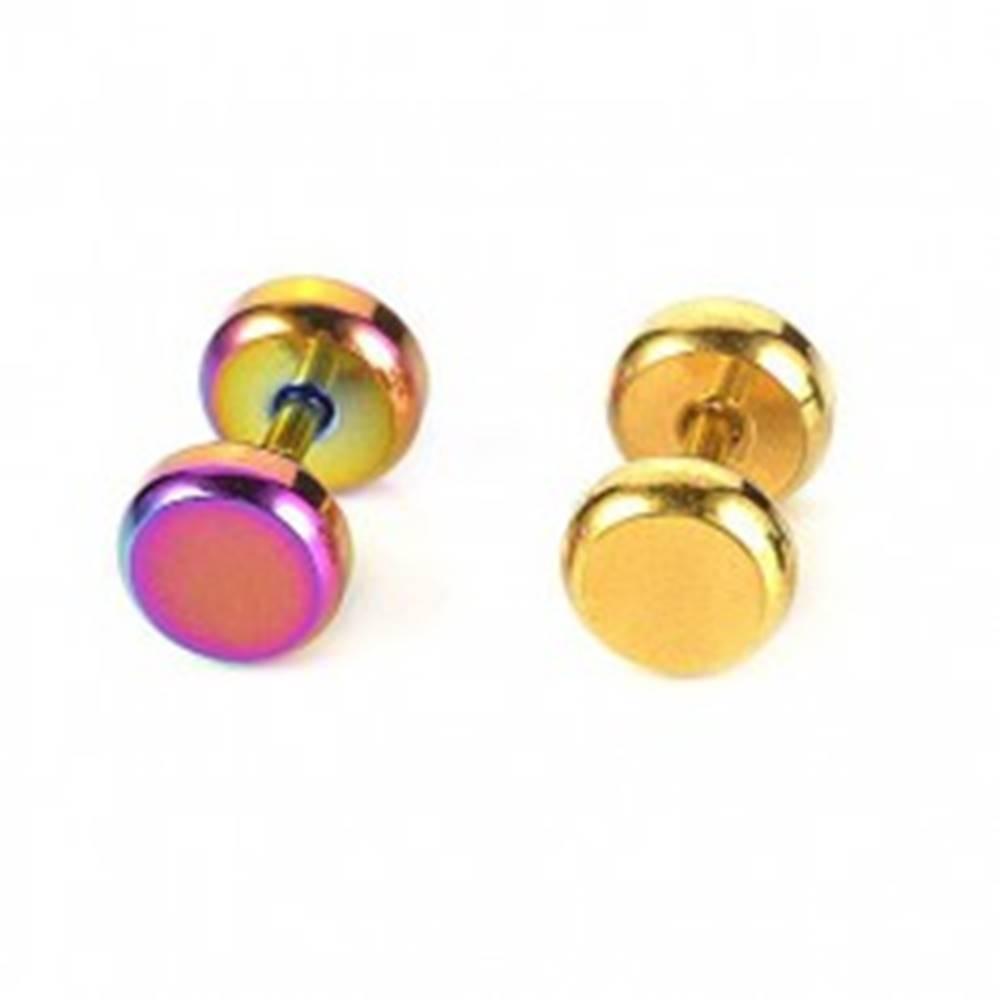 Šperky eshop Piercing do tragusu z ocele farebný - Farba piercing: Dúhová