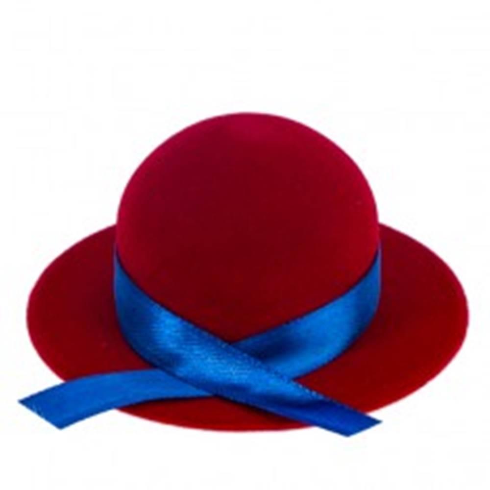 Šperky eshop Zamatová krabička na prsteň alebo náušnice - červený klobúk