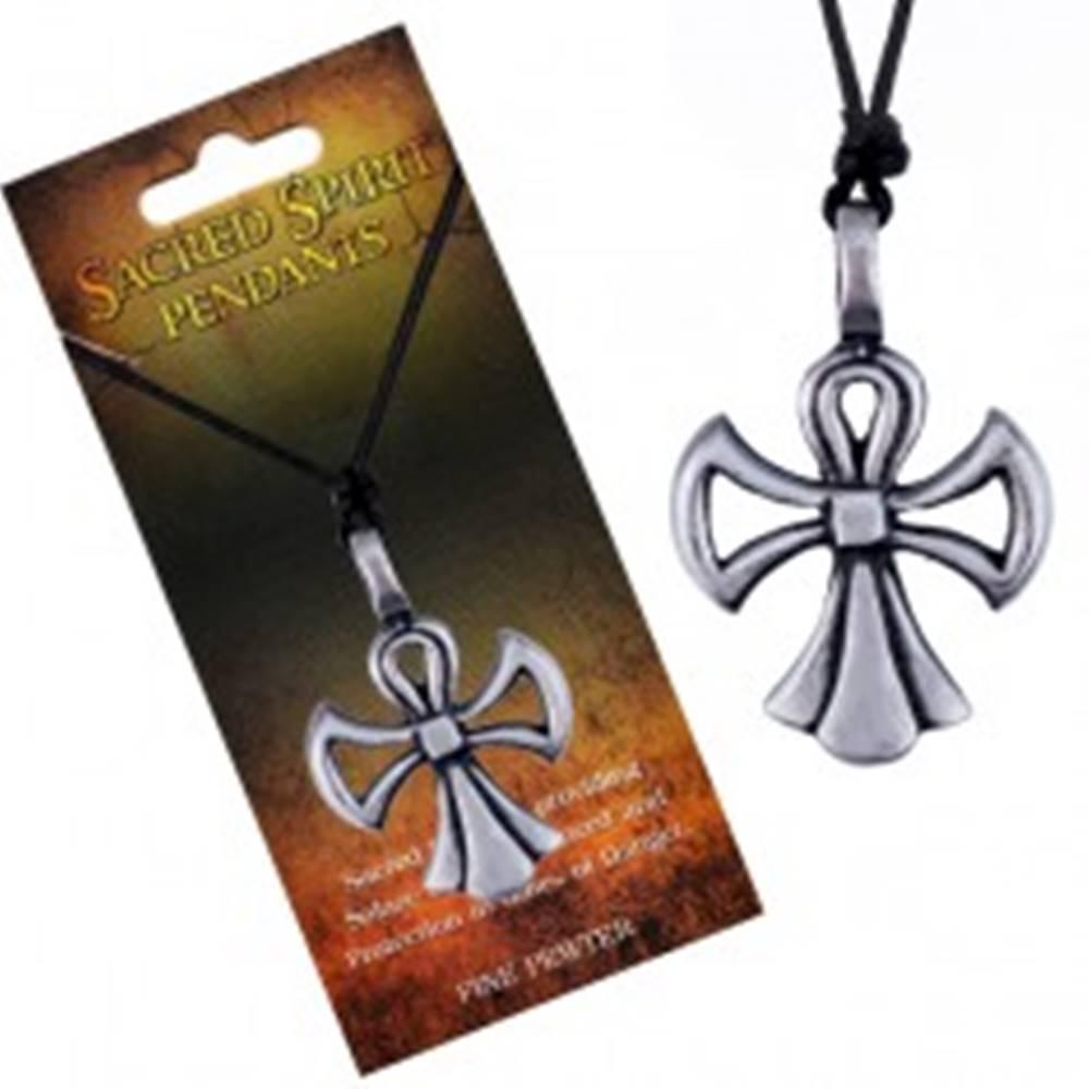 Šperky eshop Náhrdelník so šnúrkou – kríž Sacred Spirit v podobe anjela