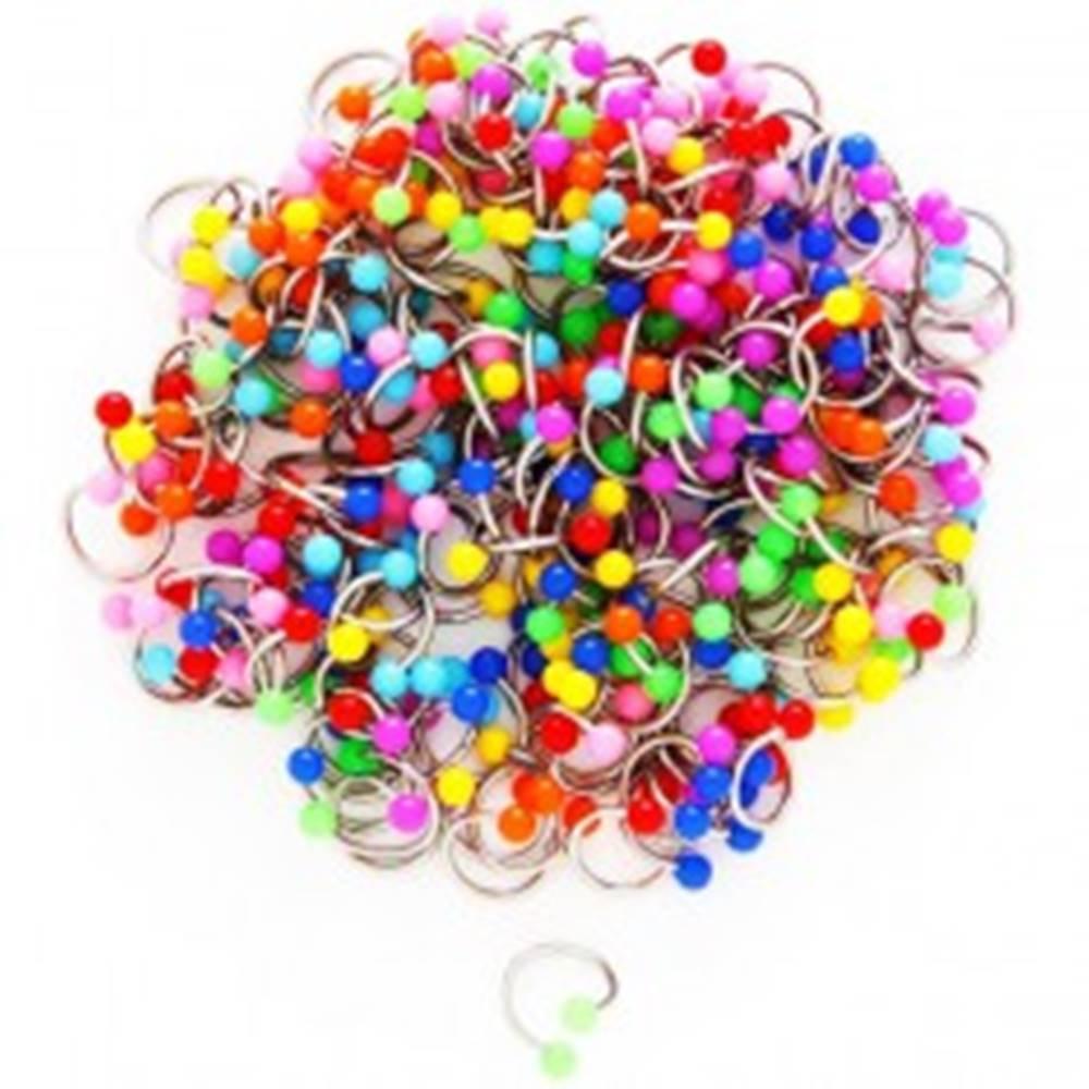 Šperky eshop Piercing do obočia - špirály s neónovou guličkou - Farba piercing: Červená
