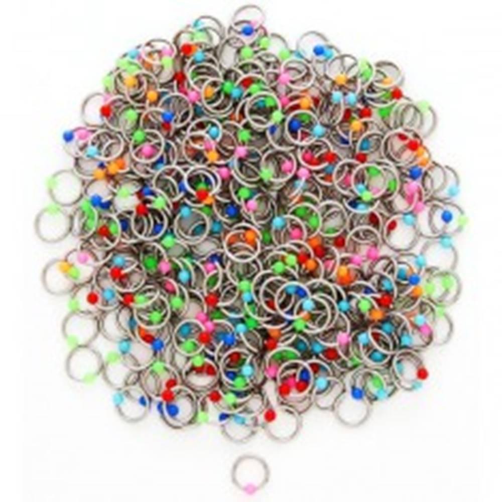 Šperky eshop Piercing z ocele s farebnými guličkami - Farba piercing: Červená