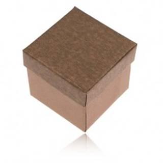 Matná krabička na prsteň, náušnice a prívesok v bronzovom odtieni