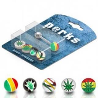 Piercing do jazyka sada - marihuana, Jamajka