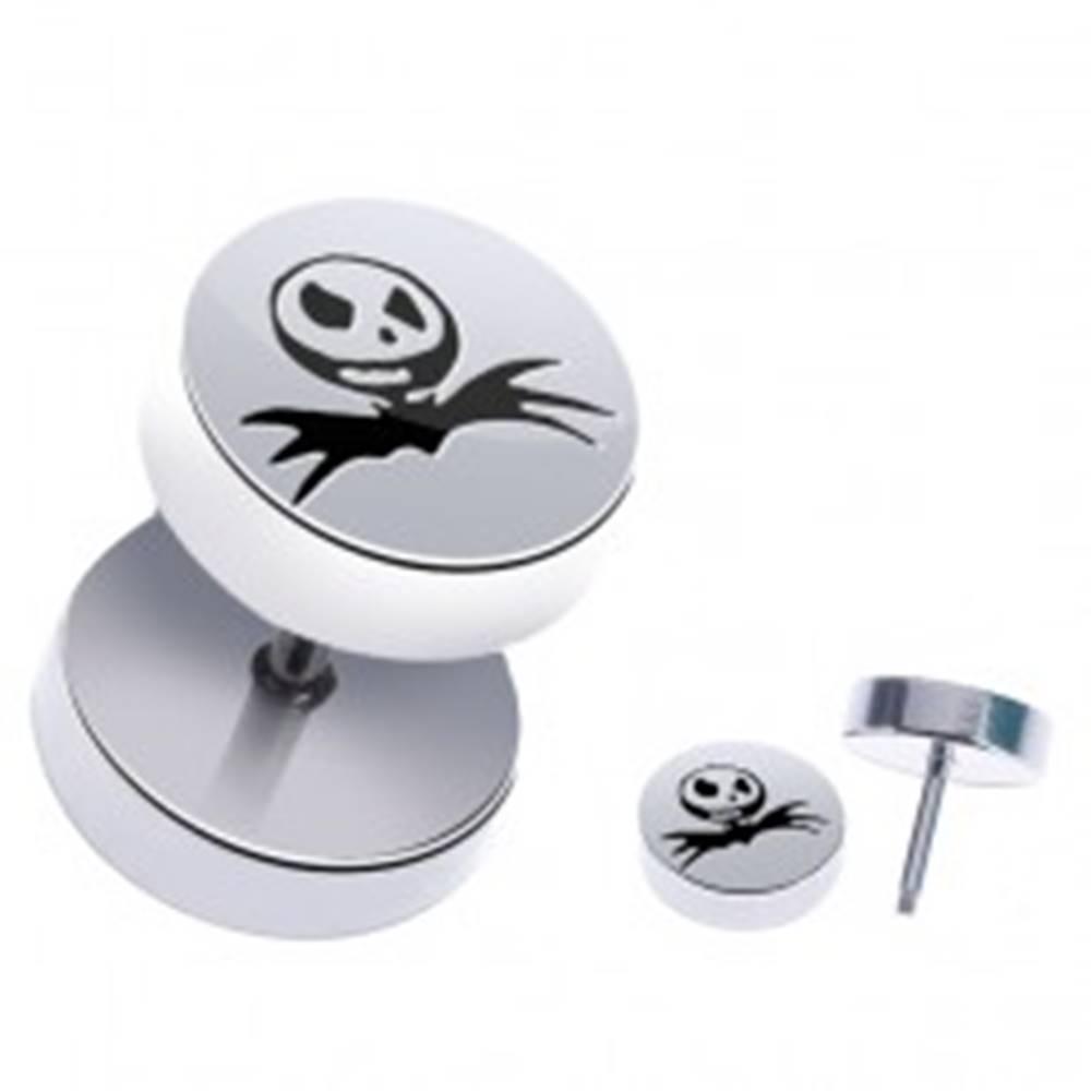 Šperky eshop Fake piercing z ocele - halloweensky motív, lebka