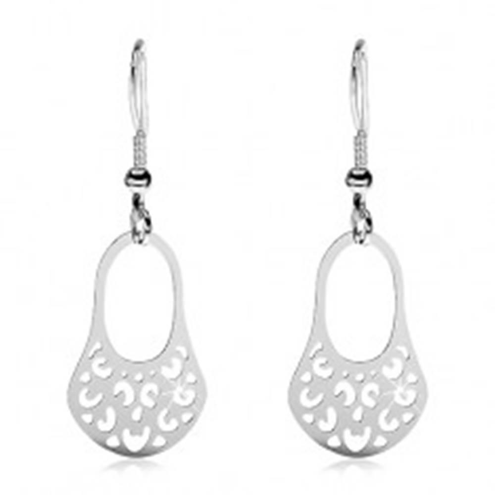 Šperky eshop Oceľové filigránové náušnice - vyrezávané VINTAGE košíčky