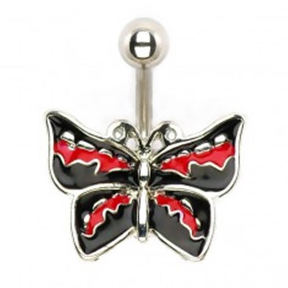 Šperky eshop Piercing do brucha - rockový motýľ