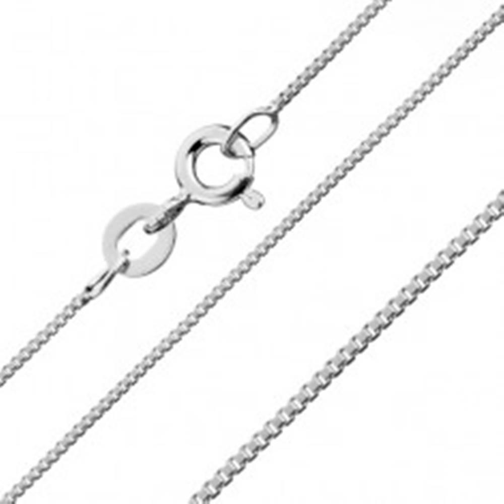 Šperky eshop Retiazka z kolmých lesklých kociek, striebro 925, 1,1 mm
