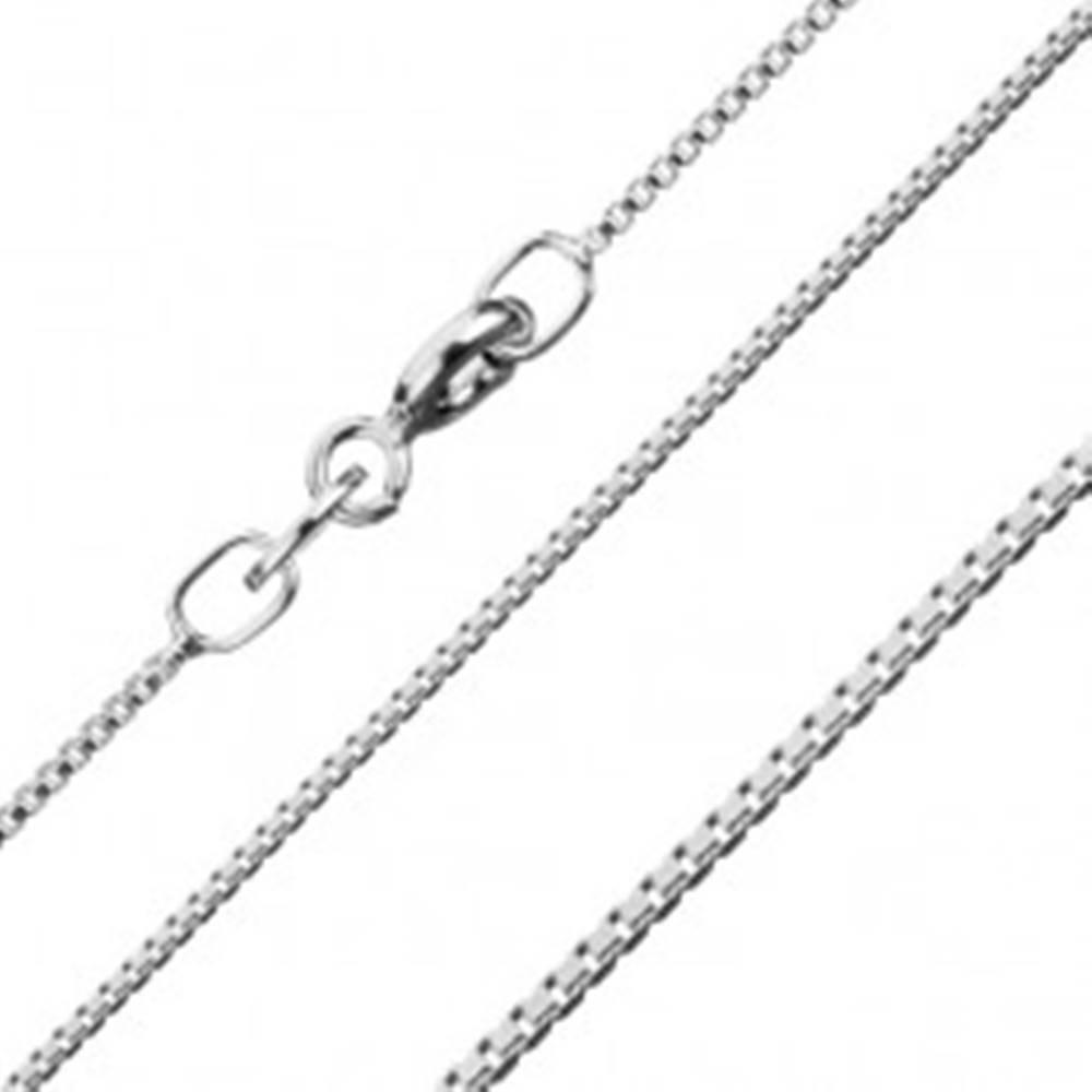 Šperky eshop Strieborná retiazka 925, husto prepojené hranaté očká, šírka 0,7 mm, dĺžka 455 mm
