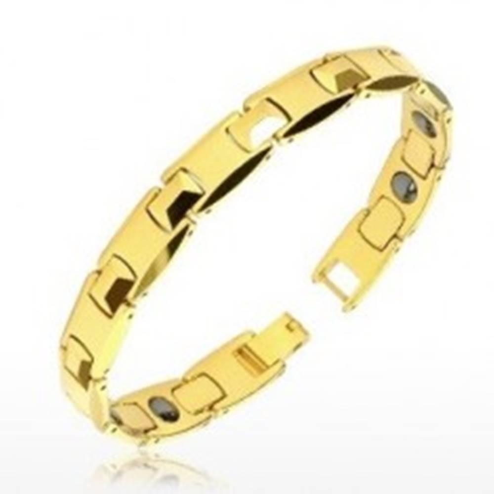 Tungstenový náramok zlatej ...