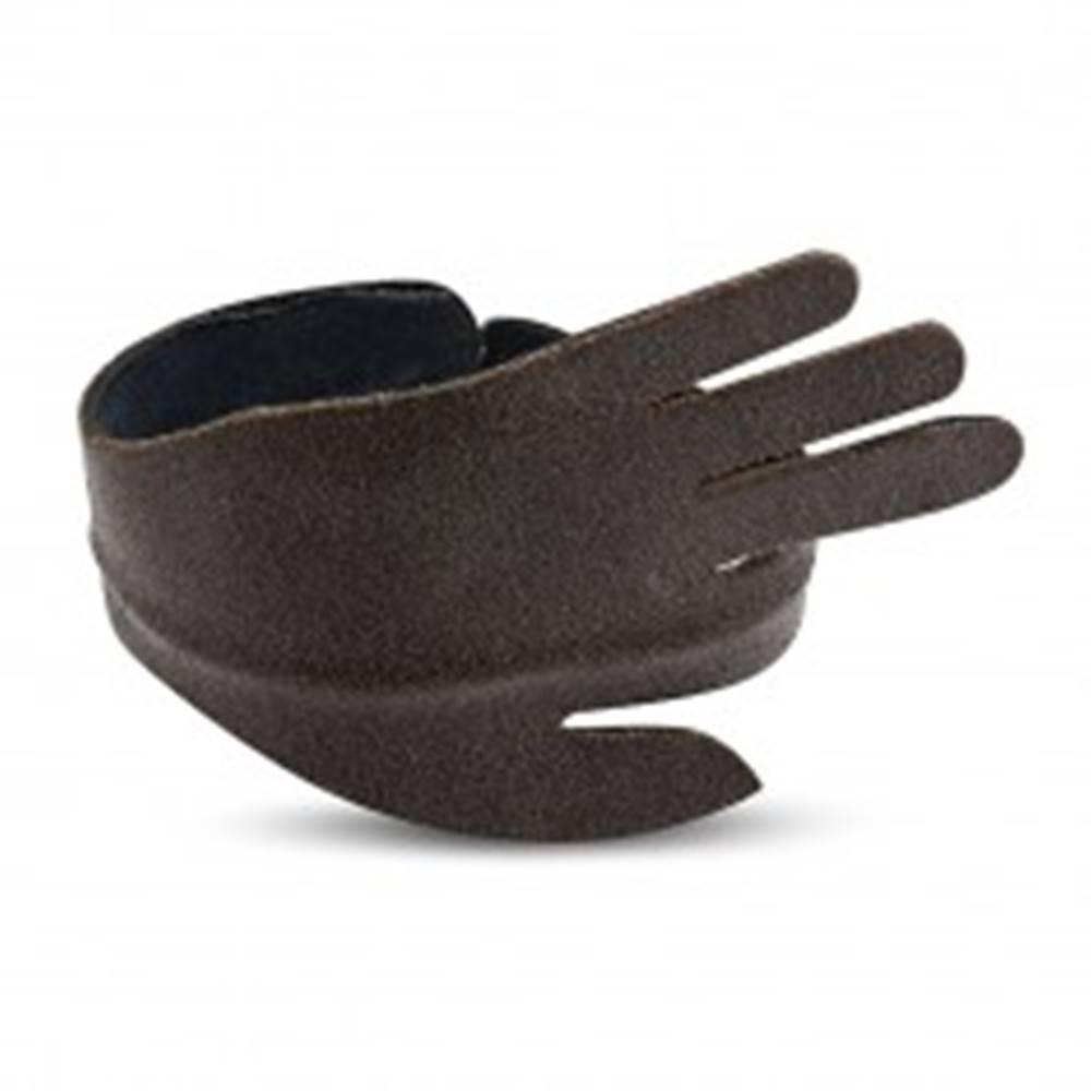 Šperky eshop Kožený ohýbateľný náramok - ruka so zvýrazneným ukazovákom